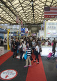 SIAL Food Treade in Shanghai, China. SHANGHAI, CHINA - MAY 5, 2015: SIAL is an international retail food trade, with annual expos around the world. In 2015 SIAL Stock Photo