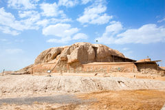 The Sialk mound in Kashan; Iran Stock Photos