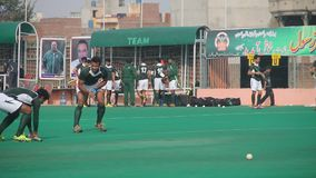 Field Hockey Practicing Session stock video