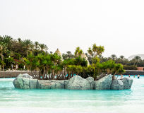 Siam Beach in the Siam waterpark. Tenerife, Canary Islands - January 13, 2015: Siam Beach in the Siam waterpark. The Siam is the largest and the most spectacular Stock Photo