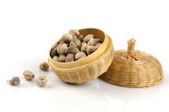 Siam Cardamom, Best Cardamom, Clustered Cardamom, Camphor Seed (Amomum krervanh Pierre). Stock Photo