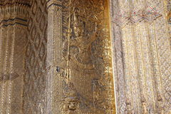 The siam carve. The carve on the temple wall,Thailand Royalty Free Stock Images