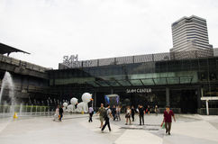 Siam Cemter and Siam Paragon shopping and entertainment area in Bangkok, Thailand Stock Photos