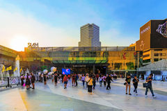 Siam center shopping mall in Bangkok. BANGKOK, THAILAND - FEBRUARY 05: This is Siam center shopping mall. It is a popular shopping mall for both local Thai Royalty Free Stock Images