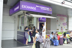 The Siam Commercial Bank money exchange in Bangkok Royalty Free Stock Image