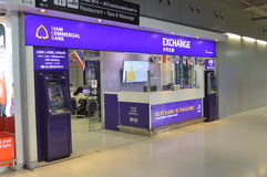 The Siam Commercial Bank money exchange in Bangkok Stock Photos
