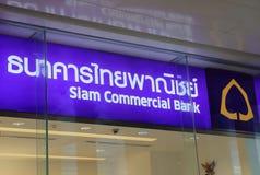 Siam Commercial Bank Tajlandia Zdjęcia Stock