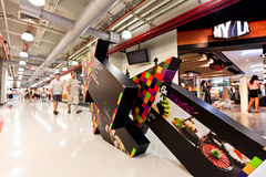 Siam Discovery Center Bangkok. The interior decoration is very special, giving a stylish atmosphere, with bright colors Royalty Free Stock Photo