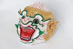 Siam mask. White Monkey lord mask,Thailand Royalty Free Stock Photo