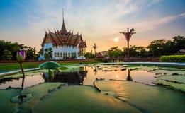 Siam Mueang Boran antigo, Banguecoque, Tailândia Imagem de Stock Royalty Free