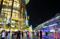 Siam Paragon är byggnaden ska användas som ett primärt dekorativt exponeringsglas arkivbild