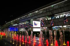 Siam Paragon Siam Paragon è un grande centro commerciale nel gruppo di potere del Siam Il più grande dei 3 paesi, Tailandia Immagini Stock Libere da Diritti