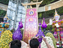 Siam paragon bangkok orchid paradise. The event will feature more than 600,000 beautiful orchid blossoms. some of the orchids presented are from the ten asiean Stock Photography