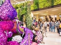 Siam paragon bangkok orchids2014 Stock Photo