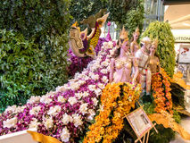 The siam paragon bangkok orchids Royalty Free Stock Images