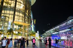 Siam Paragon is the building will be used as a primary decorative glass. stock photography