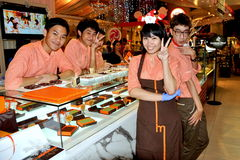 Siam Paragon Candy Boutique Workers Stock Photography