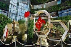 Siam Paragon Shopping Center Bangkok Arkivbild