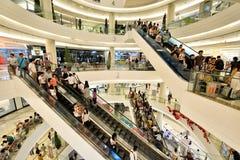 Siam Paragon Shopping Mall Bangkok royaltyfri bild