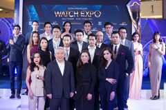 Siam Paragon Watch Expo 2017, press conference at event hall, Si royalty free stock image