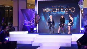 Siam Paragon Watch Expo 2017, press conference at event hall, Si. Bangkok, Thailand - July 11, 2017 ; Fashion Show Siam Paragon Watch Expo 2017, press conference stock video