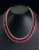Siam ruby necklace Stock Image