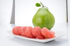 Siam Ruby Pomelo Fruit Stock Photos
