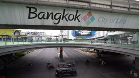 Siam Square in Bangkok stock footage