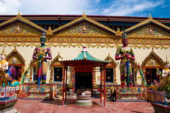 Siam temple penang. Intricate siamese buddhist temple penang Royalty Free Stock Photo