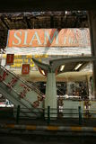 Siam theatre burned. siam square. Burned shops in siam square area. red shirt protesters, who support fugitive ex prime minister thaksin shinawatra, set fire to Stock Images