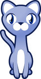 Siamese cat. Cute cat tomcat kitten feline tabby kitty pussy pussycat mouser  illustration Royalty Free Stock Photos