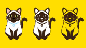 Siamese cat. (Thai cat) outline graphic vector Royalty Free Stock Photography