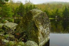 Siamese damm vildmarkområde för Siamese damm, Adirondack Forest Preserve, New York royaltyfria foton
