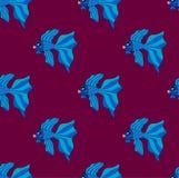 Siamese Fighting Fish on Purple Background. Vector Illustration. Siamese Fighting Fish on Purple Background. Vector Illustration Stock Images