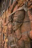 Siamese Legend. Thailand is a long carving is a craft, stone carving out a beautiful art form Stock Images
