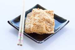Siamese rice cracker with pork floss Stock Photography
