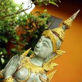 Siamese standbeeld stock afbeelding