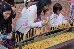 Siamesische Buddhisten Lizenzfreie Stockbilder