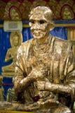 Siamesische buddhistischer Tempel-goldene Statue Lizenzfreie Stockbilder