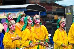 Siamesische chinesische Mönchparade. stockbild