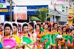 Siamesische chinesische Mönchparade. lizenzfreies stockfoto