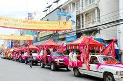Siamesische chinesische Mönchparade. Stockfoto