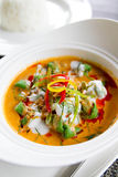 Siamesische Currysuppe Lizenzfreies Stockfoto