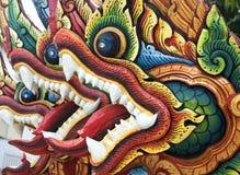 Siamesische Drache-Skulptur Stockfotografie