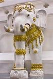 Siamesische Elefantstatuen. Stockbild