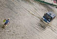 Siamesische Flut schlägt Zentrale von Thailand Lizenzfreie Stockfotos