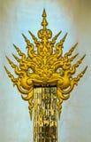 Siamesische Kunst bei Wat Rong Khun in Chiangrai, Thailand Lizenzfreies Stockfoto