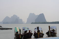 Siamesische lange Boote Lizenzfreie Stockfotografie