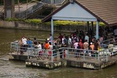 Siamesische Leute fischen lizenzfreie stockfotos