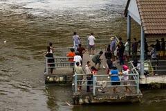 Siamesische Leute fischen stockfotos